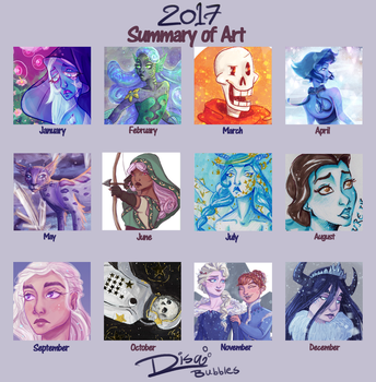2017 Summary of Art by Jellyfishbubblez