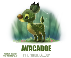 Daily Paint 1640. Avacadoe (Whew! Close one) by Cryptid-Creations