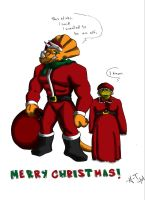 Merry Christmas by MutantThing by tmntart
