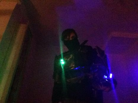 Led light test -halo cosplay  by mombo240