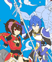 Seria and Karl by Bromithius