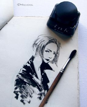 ink sketch by lispoart