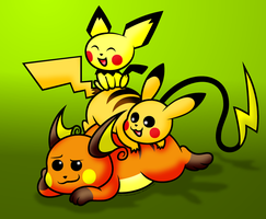 Pika-pile! by AleximusPrime