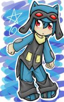 Human Riolu - colored by xxjust-a-nobodyxx