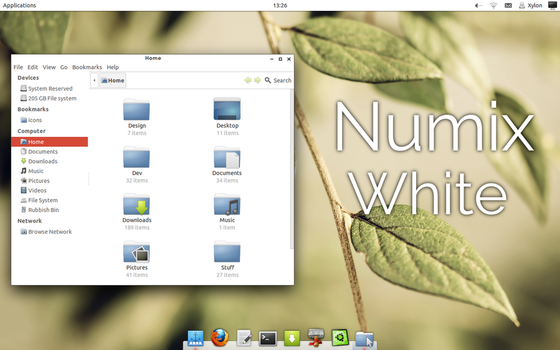 Numix White: Gtk Theme v1.4 by TheVirtualDragon