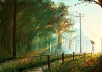 road by BlizzOmos