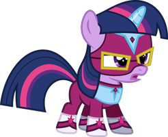 Twilight Sparkle Filly as Masked Matter-Horn by imageconstructor