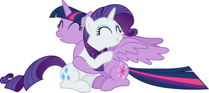 rarity_and_twilight_sparkle_hugging_by_c