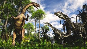 Lilientsternus and Plateosaurus by PaleoGuy