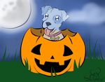Spoopy the Ghost Pupper by Patchwork--Heart