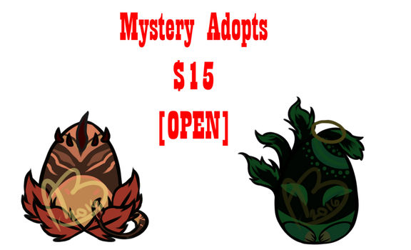 Mystery egg adoptables [1/2 Open] by IntergalacticNobody