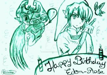 Happy Birthday Eden-Rose by moonshadow456