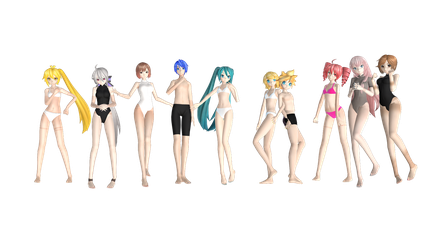 [MMD DL] PDX Base Pack! by FreezyChanMMD