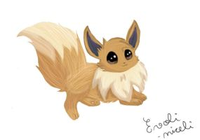 My 'Realistic' Eevee by Evoli-niceli