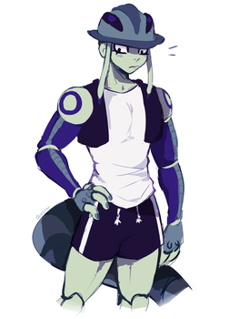 meruem but with clothes by Queijac