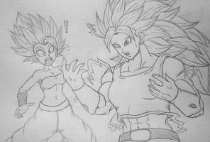 Kale the first ever female SSJ3 by Harrybob98