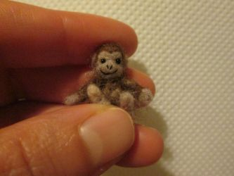 OOAK miniature collectible micro toy monkey by tweebears
