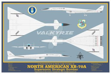 North American XB-70A Valkyrie Poster by sfreeman421
