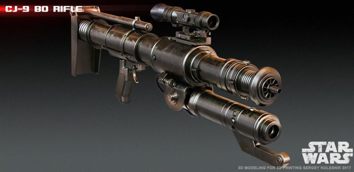 CJ-9 Bo Rifle 3D print model by ksn-art