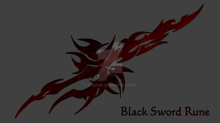 Black Sword Rune by samshil