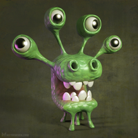 Cartoony monster by m7