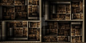 Escher's Bookshelf by Meckie