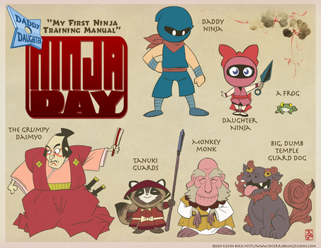 Daddy-Daughter Ninja Day Cast by kevinbolk