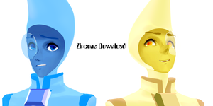 [MMD Model DOWNLOAD] Zircons [DOWN] by AquamarinePeridot