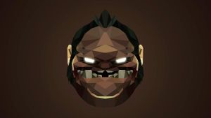 Pudge Dota 2 Low Poly Art by giftmones