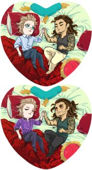Gladio+Ignis heart pillow design by beanclam
