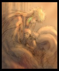 Kyuubi and Naruto by Lizeth
