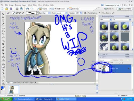 Omg, it's a WIP desktop :O by ChocohedgehogClub
