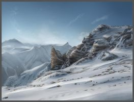High mountains study by lukkar