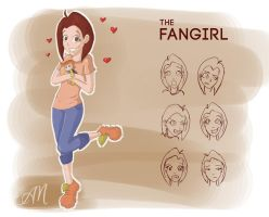 Character Design: Fangirl by ticklishoctopus