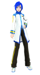 DT 2nd  Default kaito [DL] by MMD-francis-co