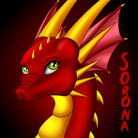 Sorona The Dragon (art trade) by Tomek1000