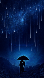 Love under the meteor shower by Ellysiumn
