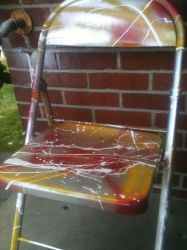 another rehabed folding chair by critmass