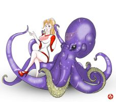 Red Winged Octopus by dippydude
