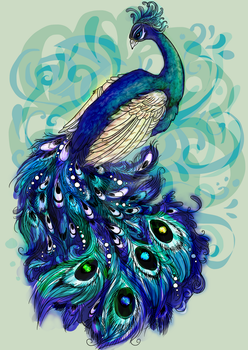 Peacock by crystaltiger52