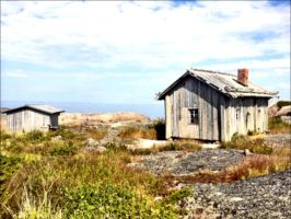 An Old Abandoned Fishermans Cotage In Archipelago by eskile