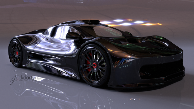 Concept car front view by jackdarton