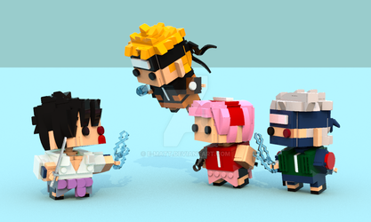 Naruto Brickheadz Team 7 by E-Matt