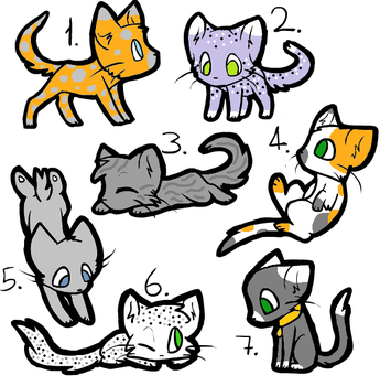 More 20 Point Cat Adoptables OPEN by wintermermaids3