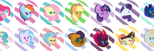 Buttons for EFNW and BronyCon! by KellyTheDrawingUni
