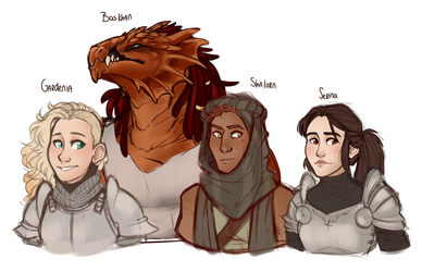 DnD| Characters | New Campagne by RomyvdHel-Art