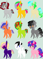 MLP Chibi Adopts ~ 10 Points Each ~ *OPEN* by Adopting-Angels