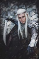 Thranduil's attack by TheIdeaFix