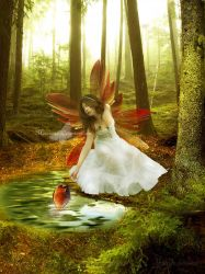 Fairy and Fish by maiarcita