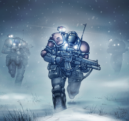Marines by McGibs